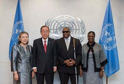 Ambassador and Mrs Webaon with Mr. & Mrs. Ban Ki Moon